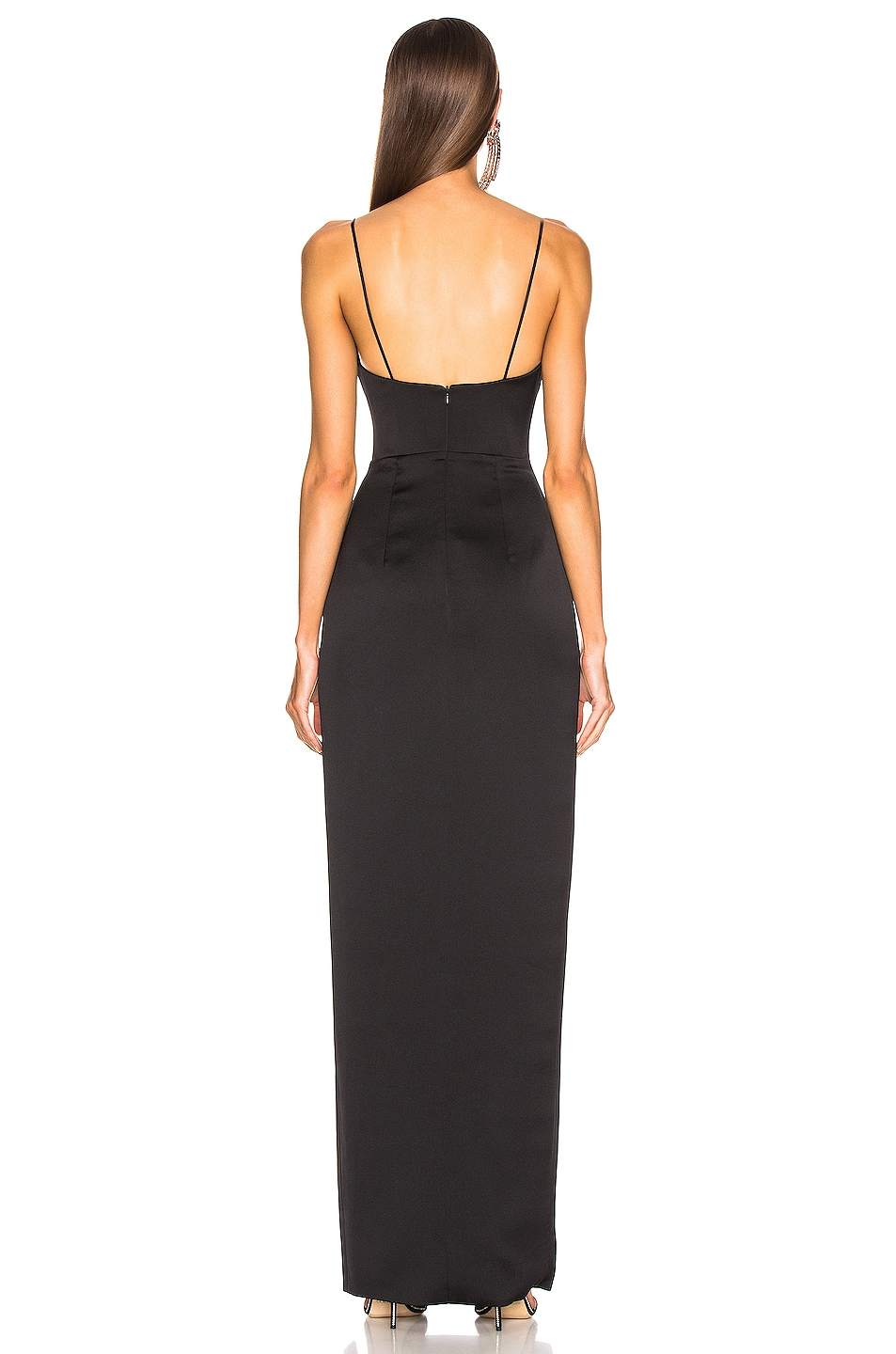 Image 4 of RASARIO Front Split Gown in Black