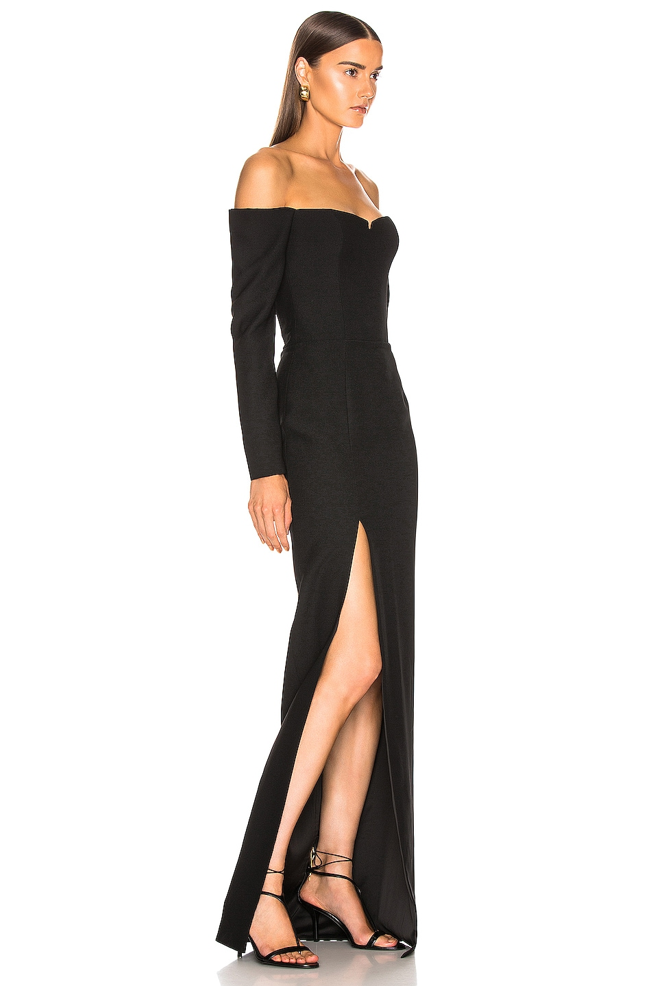 Image 2 of RASARIO Cold Shoulder Corset Gown in Black