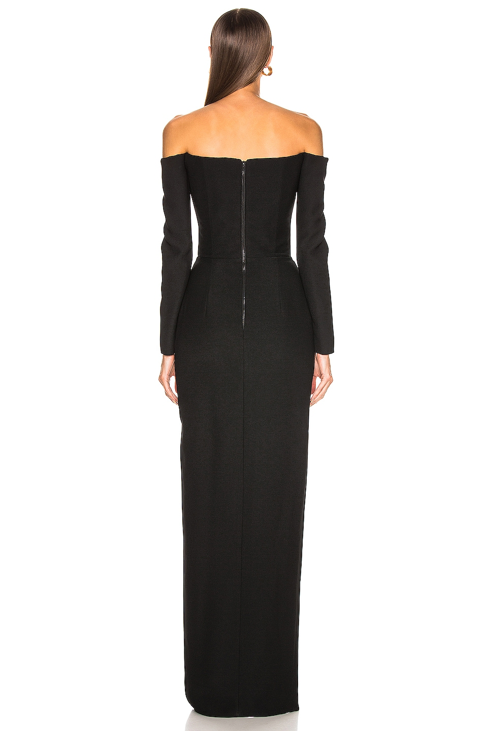 Image 4 of RASARIO Cold Shoulder Corset Gown in Black