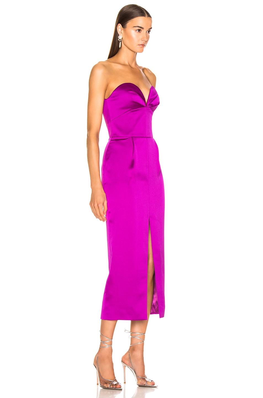 Image 2 of RASARIO Strapless Corset Midi Dress in Purple