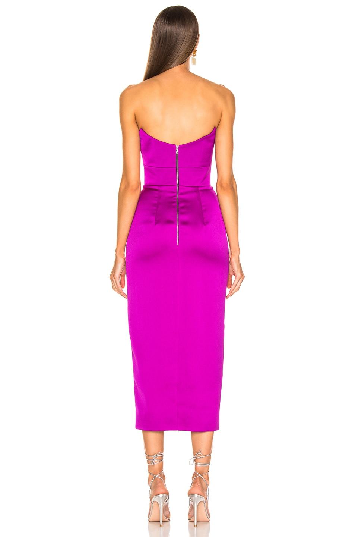 Image 3 of RASARIO Strapless Corset Midi Dress in Purple