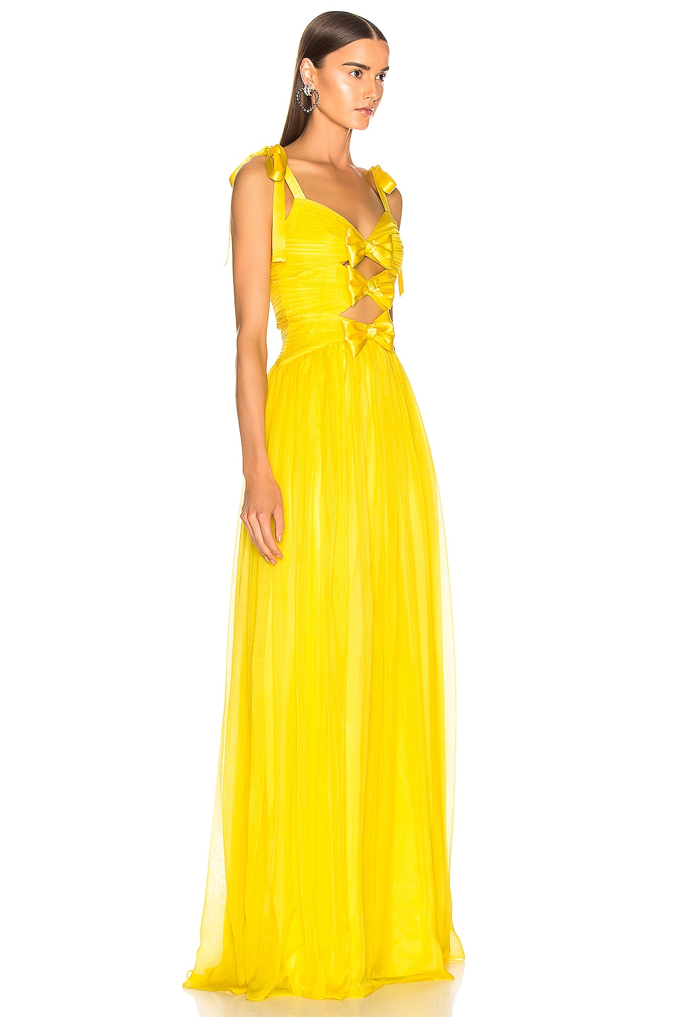 Image 2 of RASARIO Triple Bow Gown in Yellow