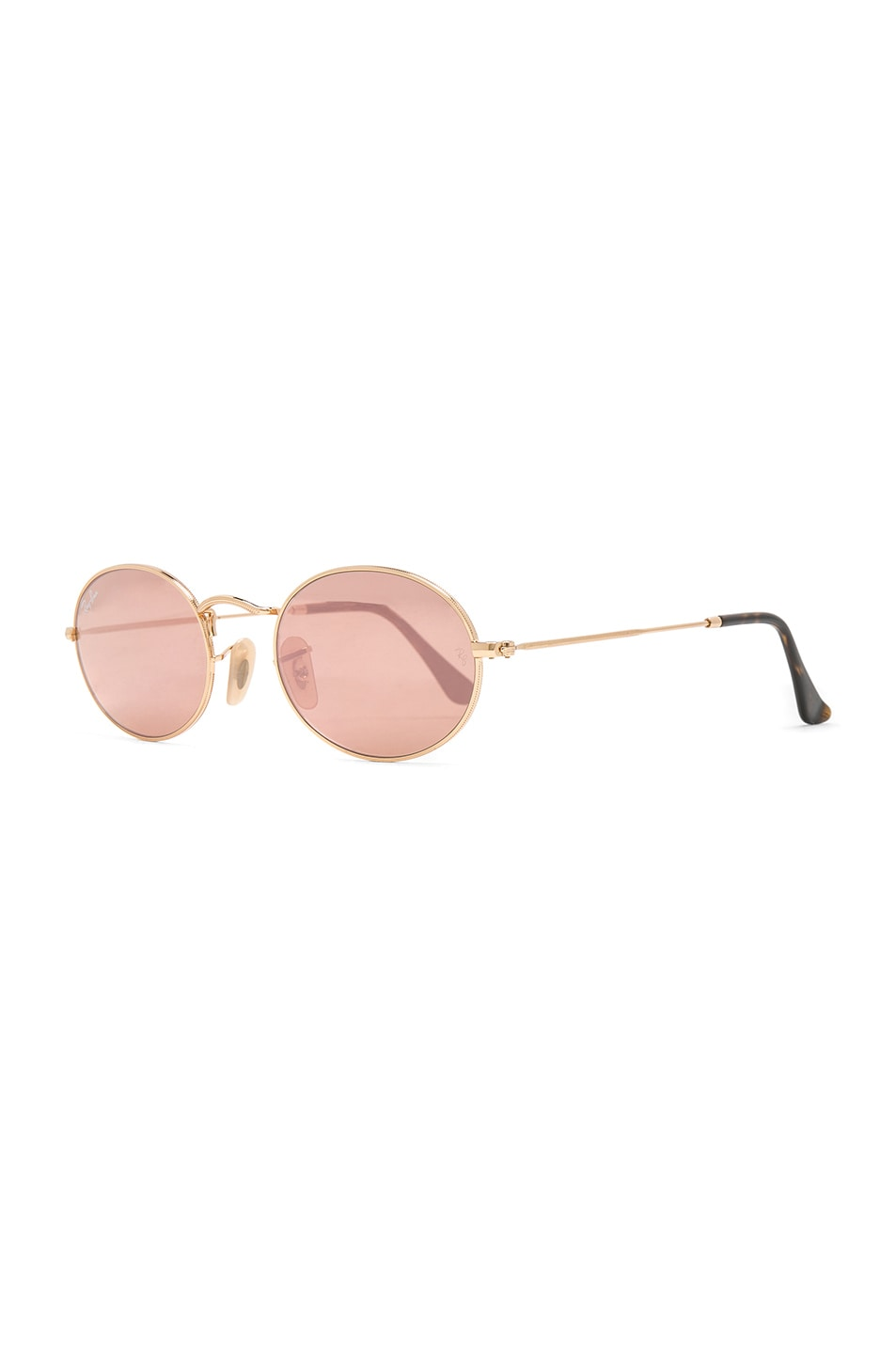 bc85ebac01e Image 2 of Ray-Ban Oval Flat Sunglasses in Gold   Copper Flash