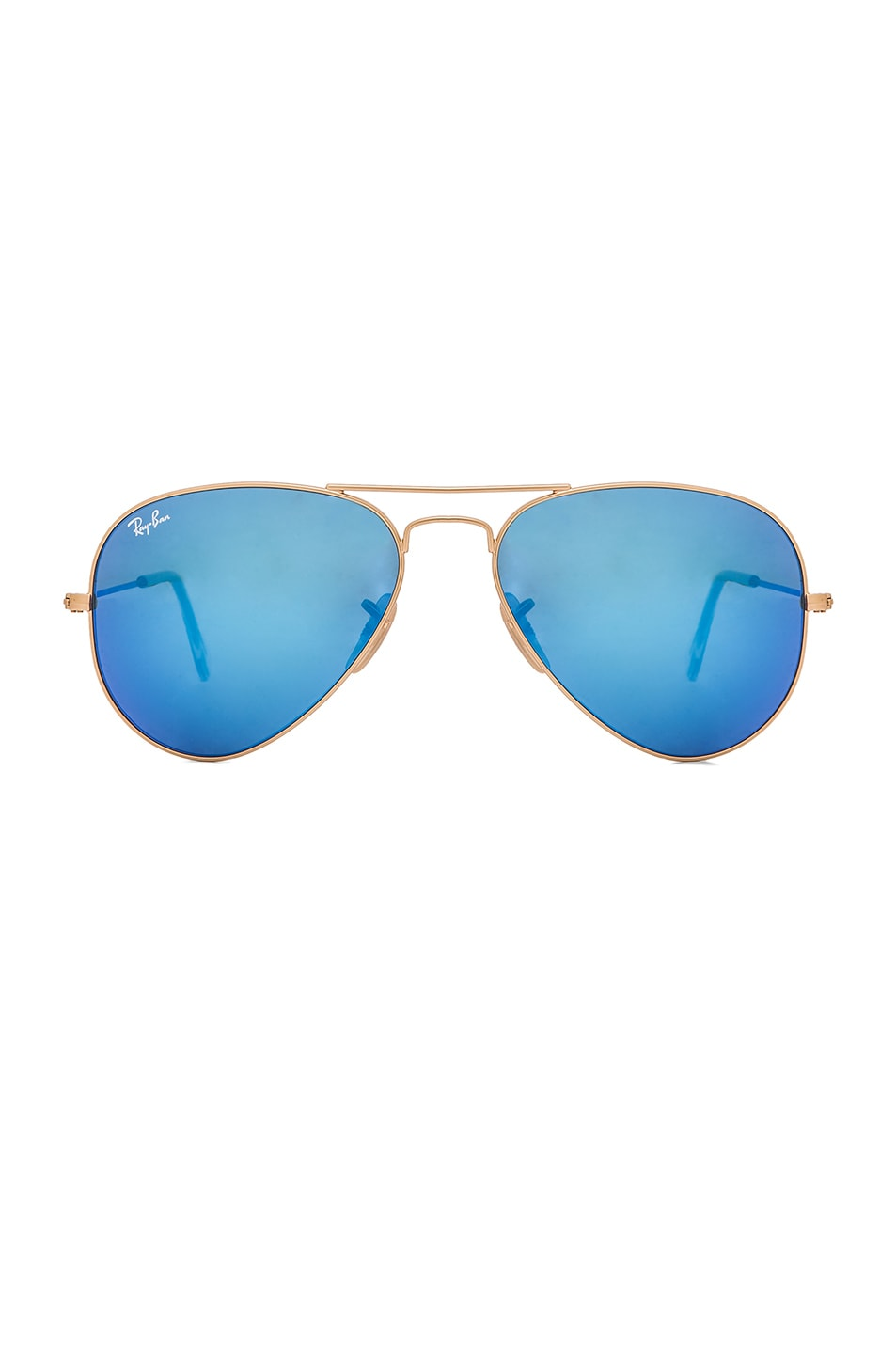 Image 1 of Ray-Ban Aviator Sunglasses in Gold & Blue
