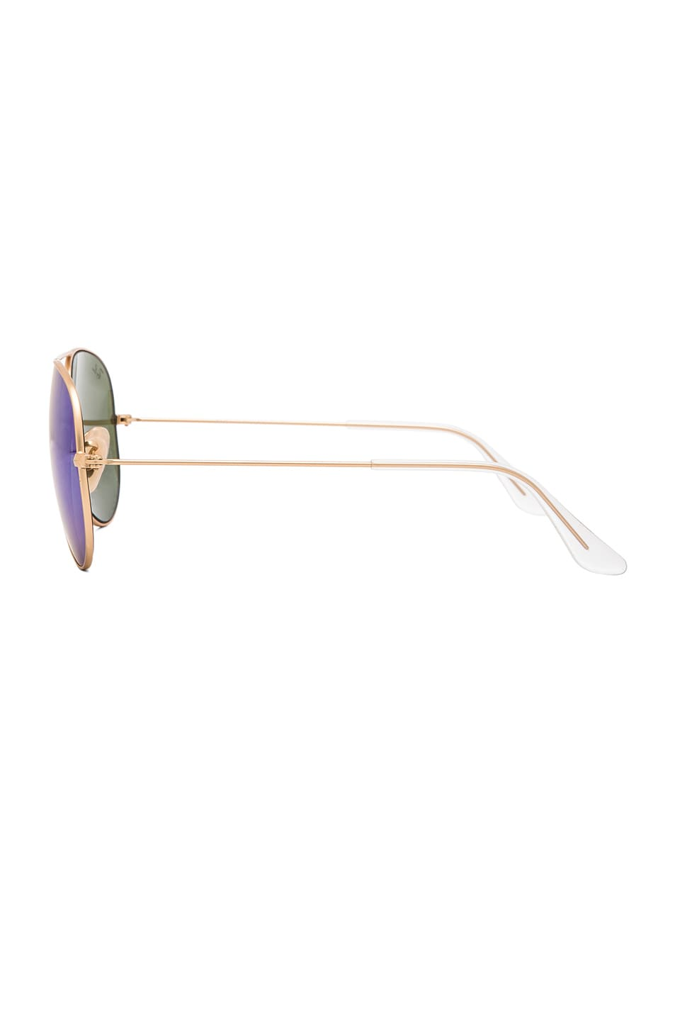 Image 3 of Ray-Ban Aviator Sunglasses in Gold & Blue