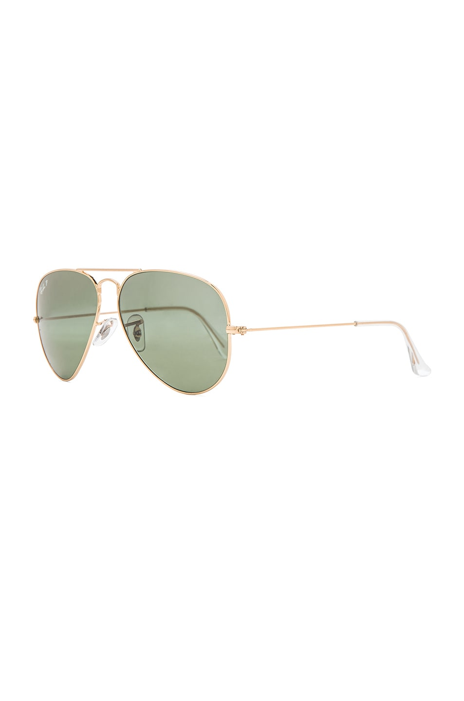 Image 2 of Ray-Ban Aviator Polarized Sunglasses in Gold