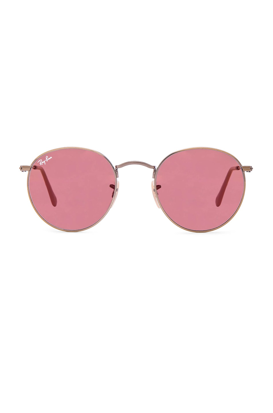 Image 1 of Ray-Ban Round Sunglasses in Red Mirror