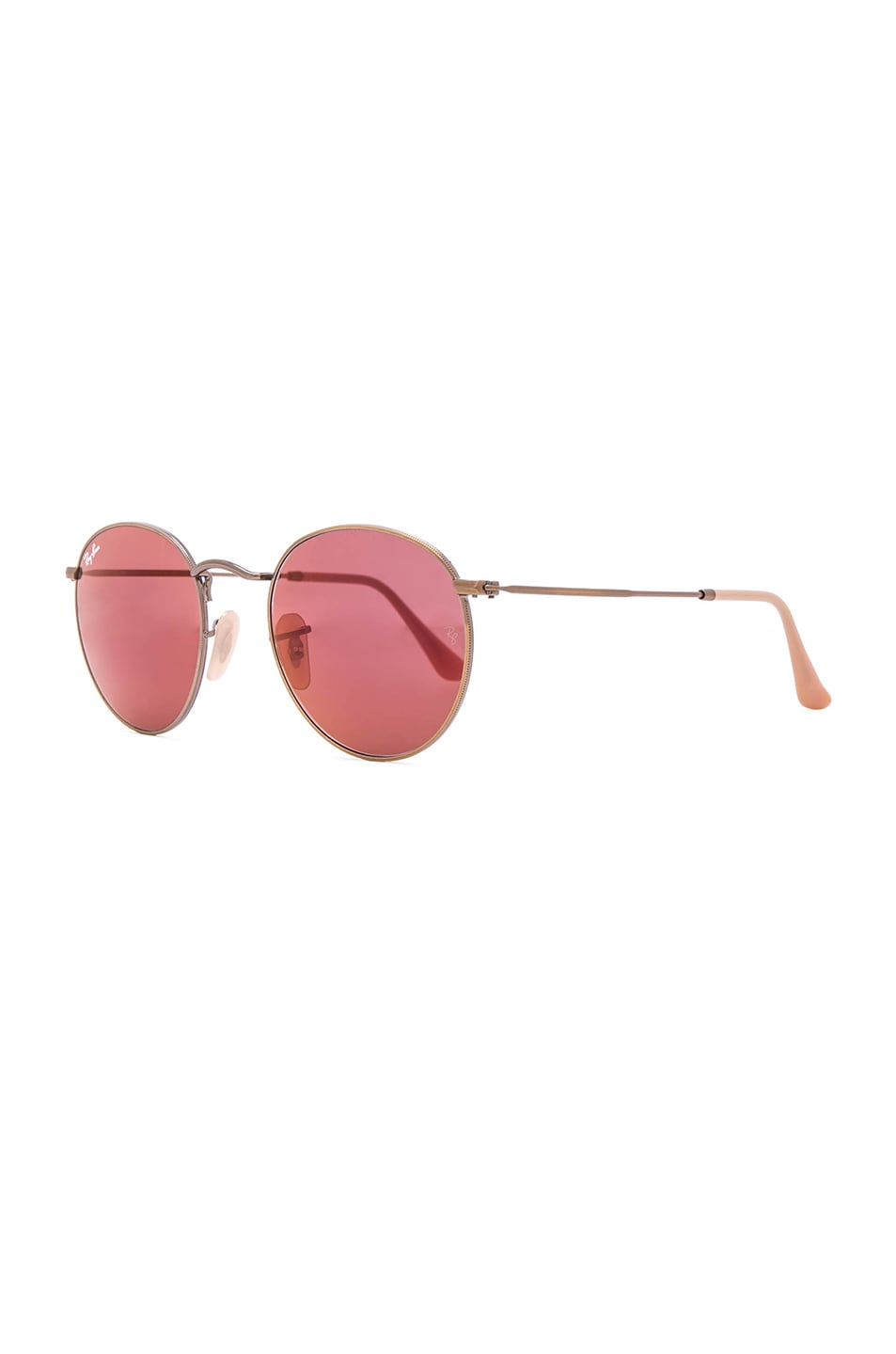 Image 2 of Ray-Ban Round Sunglasses in Red Mirror