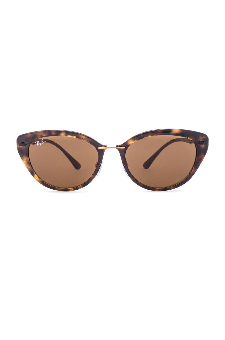 6f938888193 Image 1 of Ray-Ban Cat Eye Sunglasses in Brown Tortoise