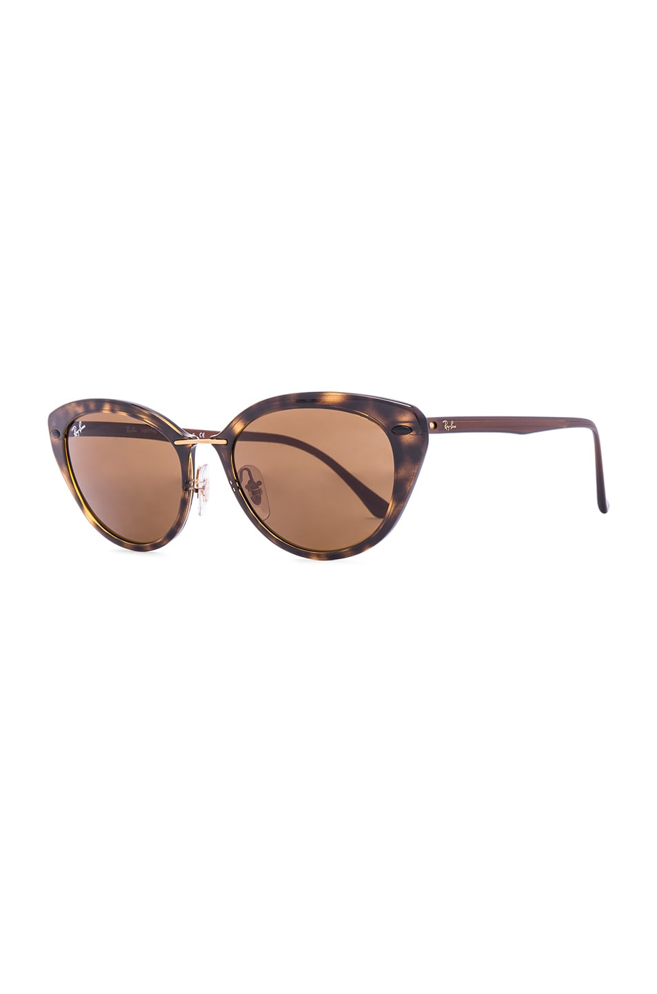 Image 2 of Ray-Ban Cat Eye Sunglasses in Brown Tortoise