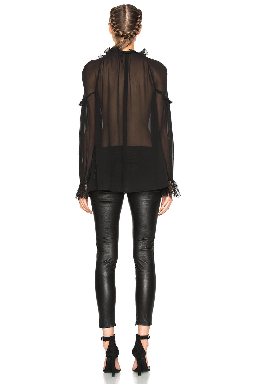 Image 4 of Roberto Cavalli Georgette Blouse in Black