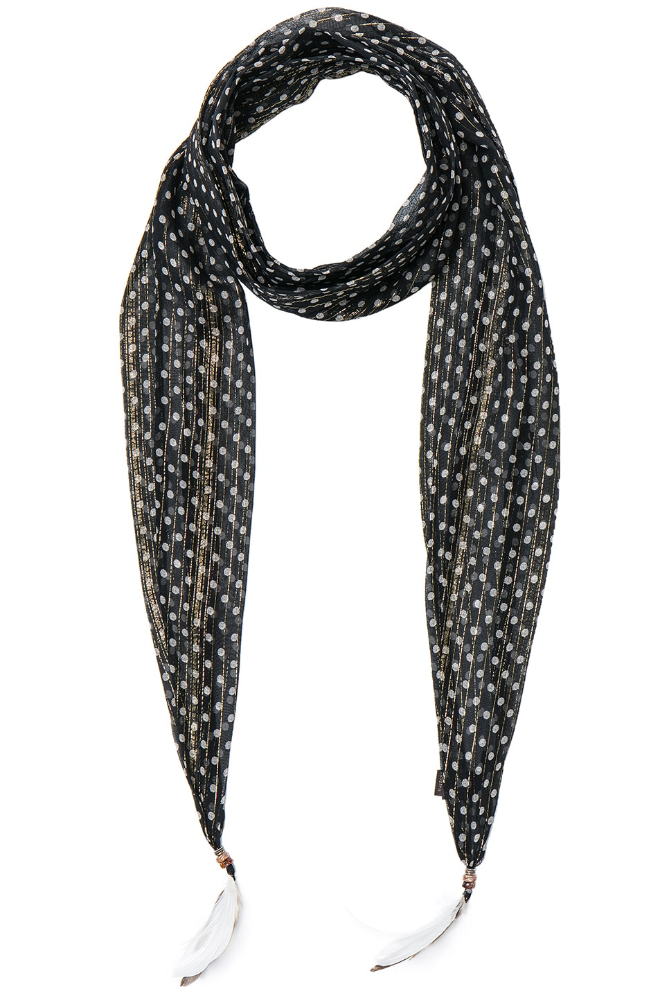 Image 1 of Roberto Cavalli Thin Printed Scarf in Black