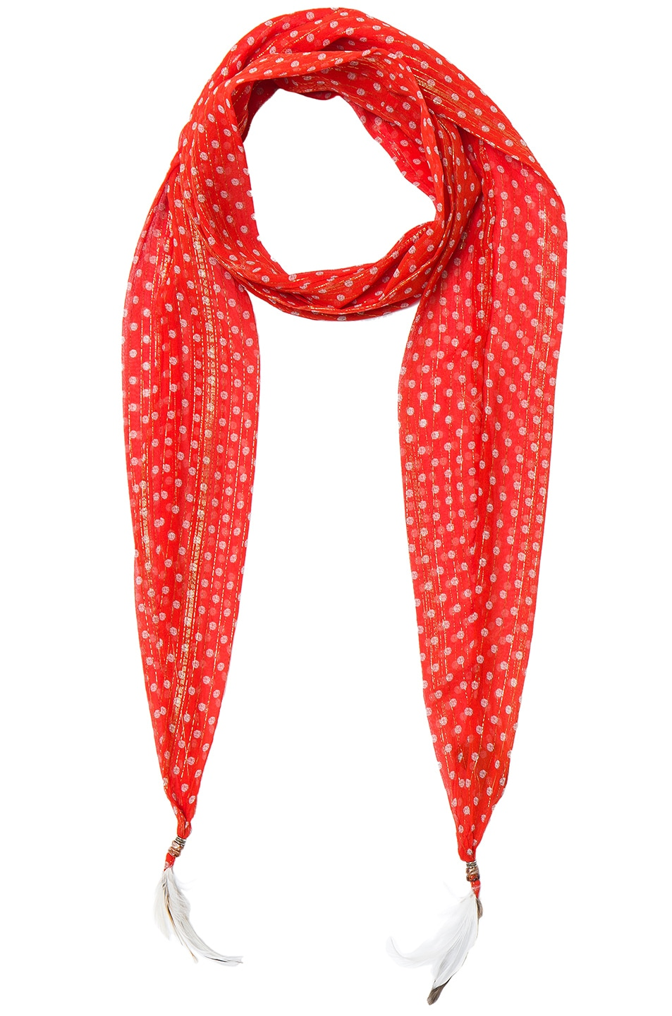 Image 1 of Roberto Cavalli Thin Printed Scarf in Red
