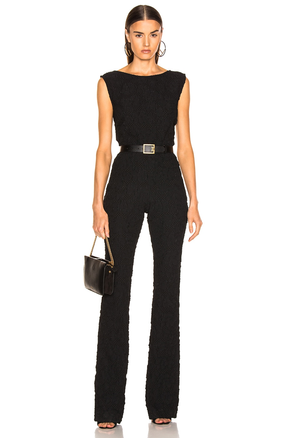 Obliging Womans Black Jumpsuit Velvet Clothing, Shoes, Accessories