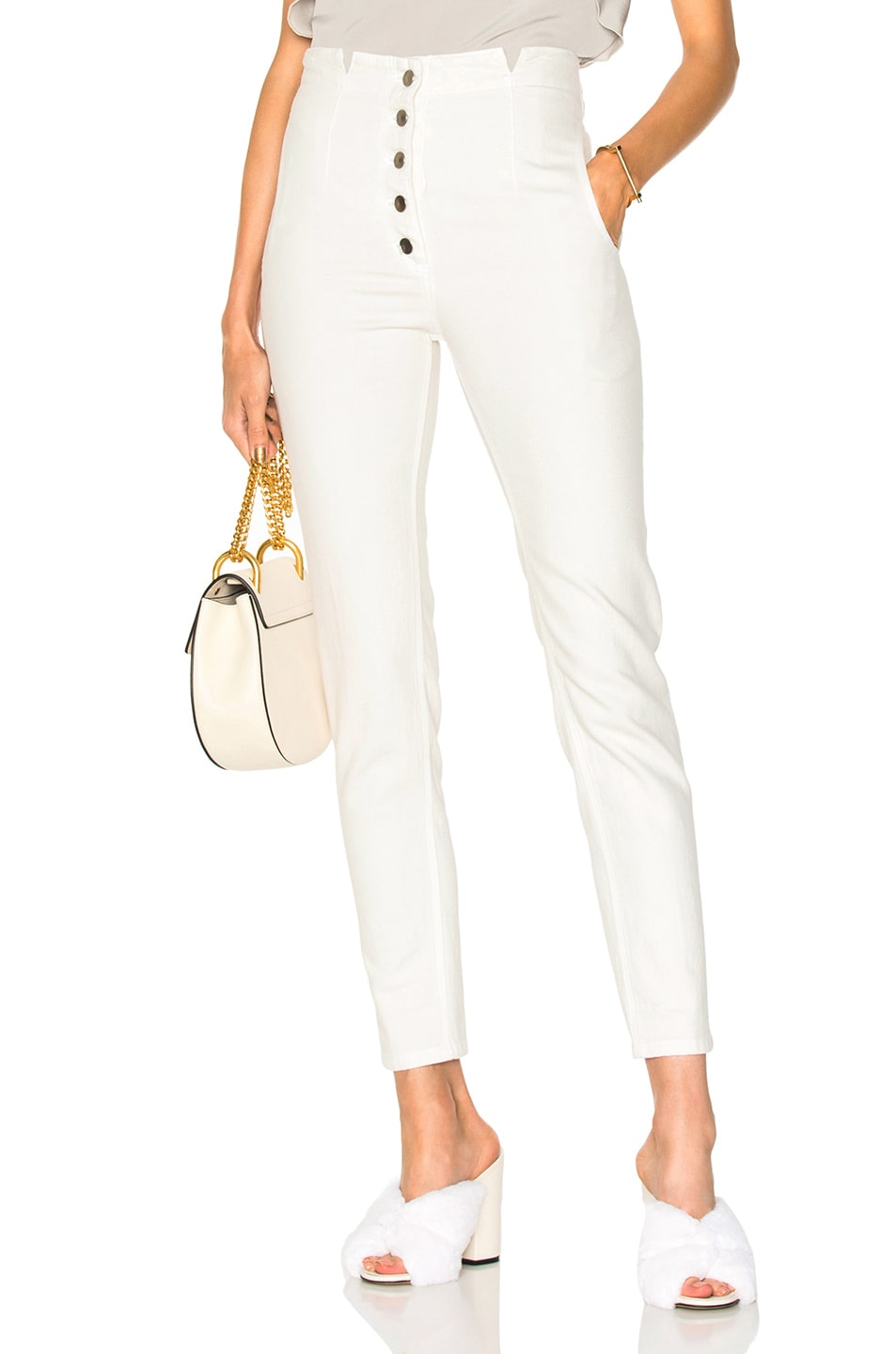 RACHEL COMEY DOCK PANT IN WHITE