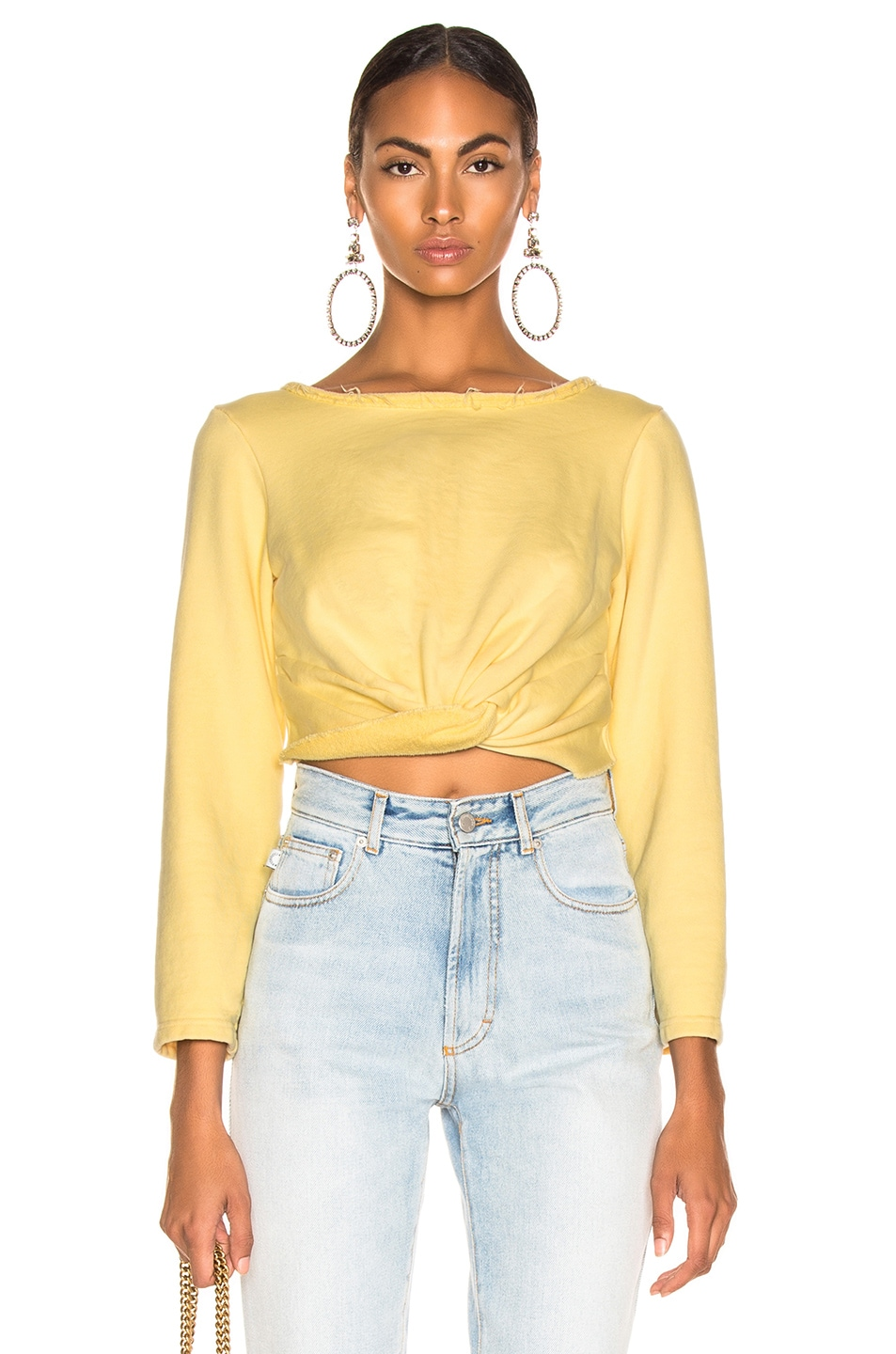 Image 1 of Rachel Comey Argento Sweatshirt  in Lemon