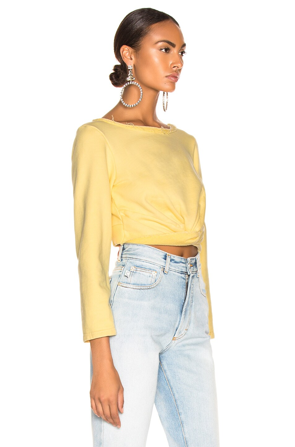 Image 2 of Rachel Comey Argento Sweatshirt  in Lemon