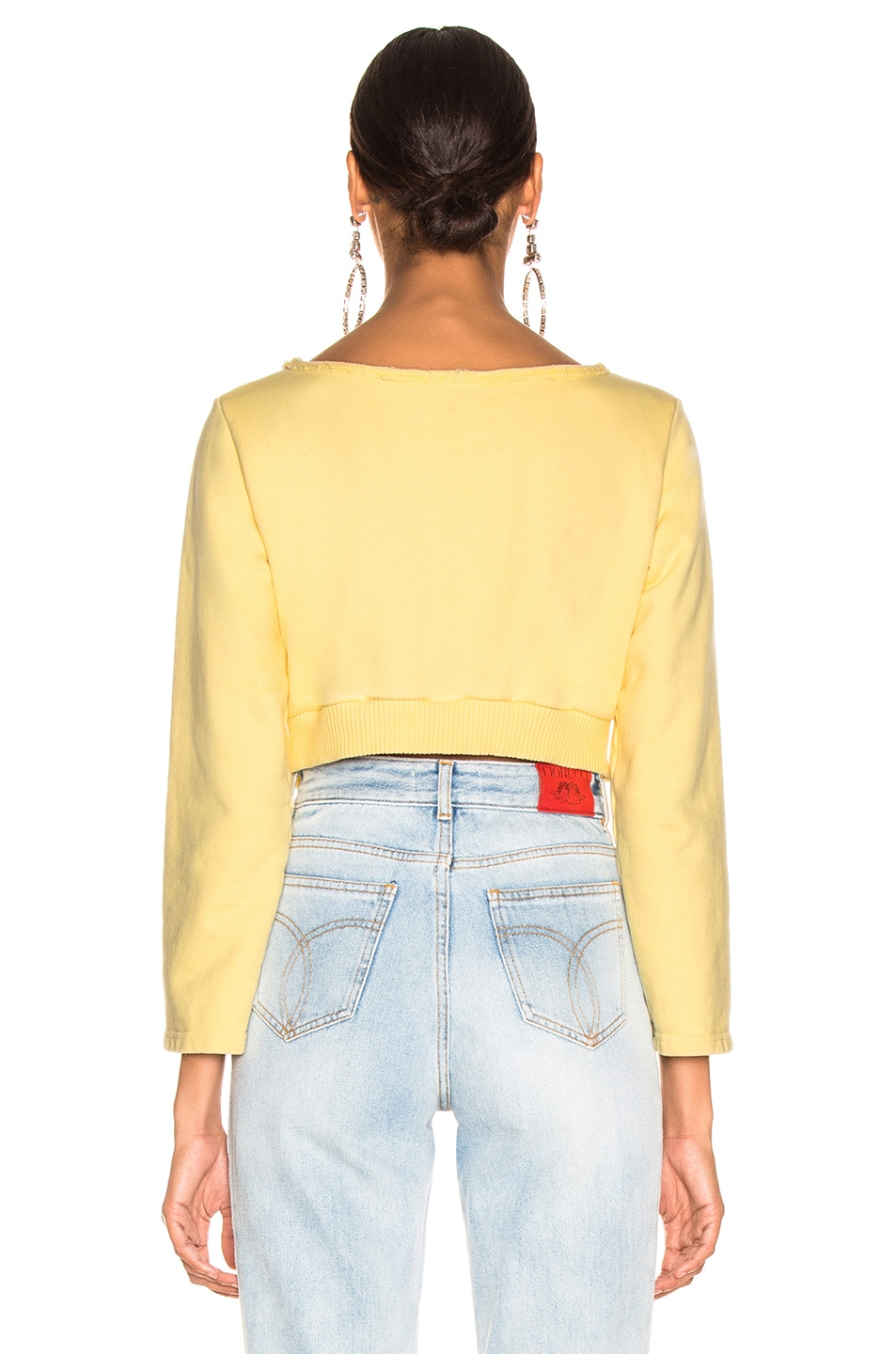 Image 3 of Rachel Comey Argento Sweatshirt  in Lemon
