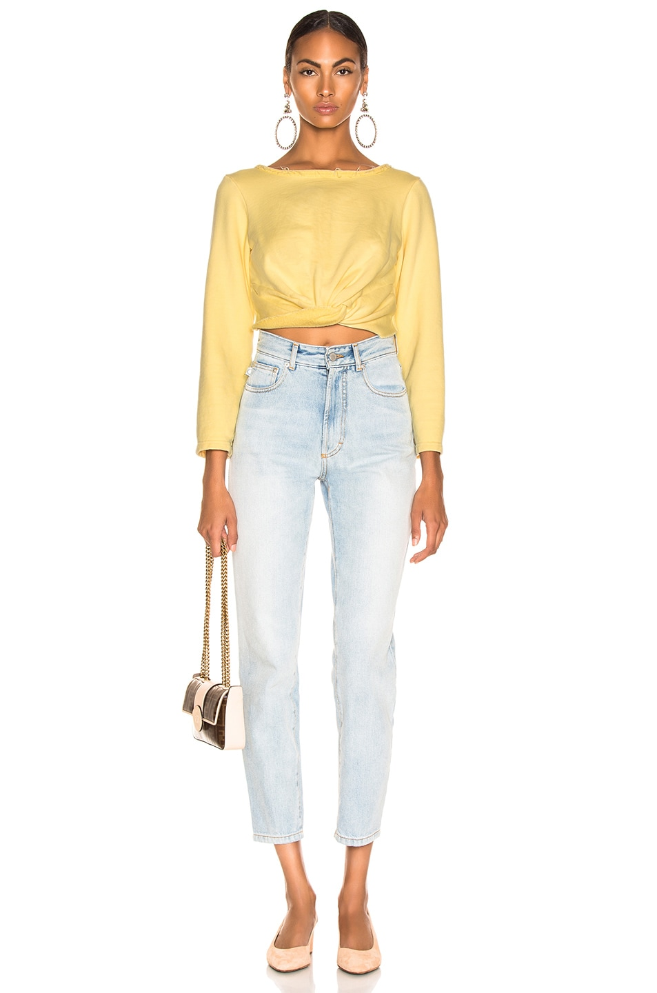 Image 4 of Rachel Comey Argento Sweatshirt  in Lemon