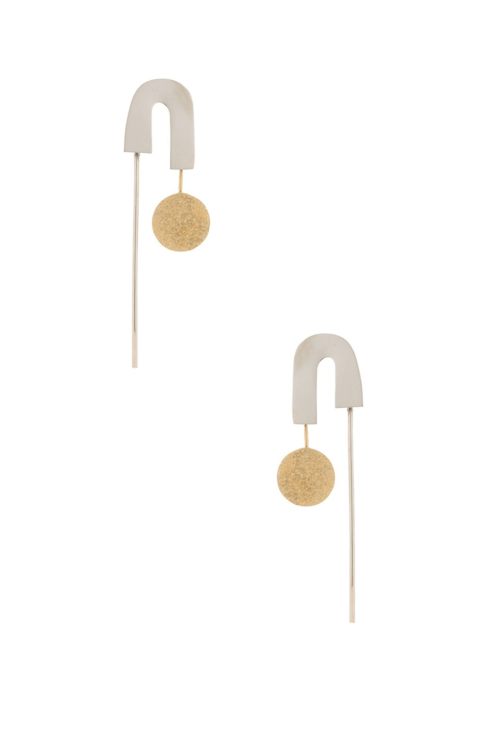 Image 1 of Rachel Comey Alloy Earrings in Mixed Metal