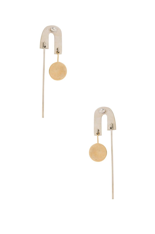 Image 3 of Rachel Comey Alloy Earrings in Mixed Metal