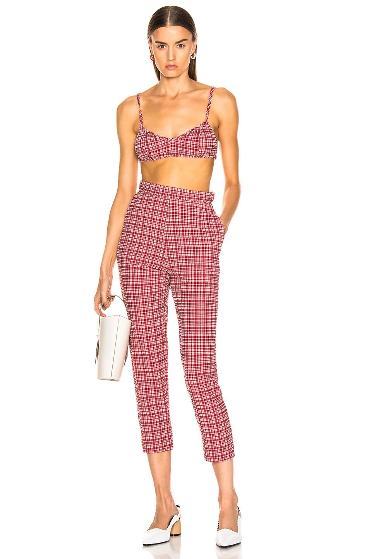 Image 4 of Rachel Comey Flat Westside Pant in Crimson