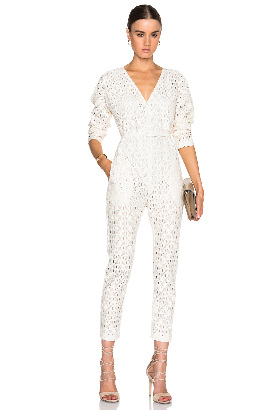 254a5c10b11e Image 1 of Rachel Comey Long Sleeve Glinda Jumpsuit in Ivory