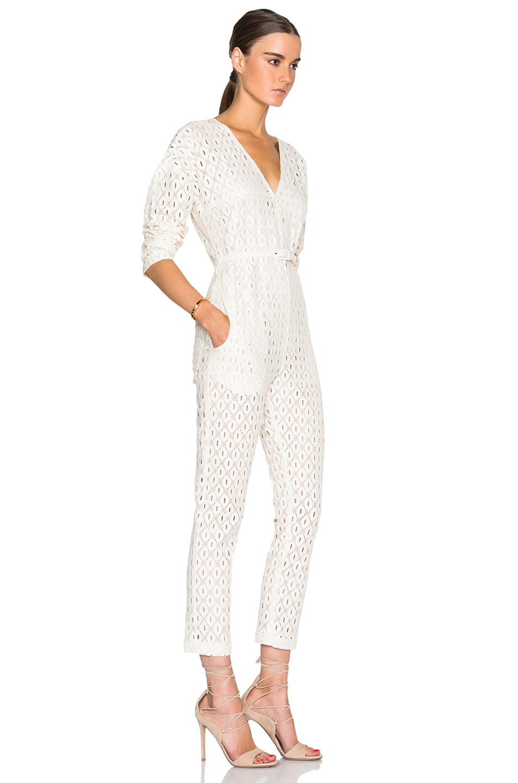 61daeb556c8 Image 3 of Rachel Comey Long Sleeve Glinda Jumpsuit in Ivory