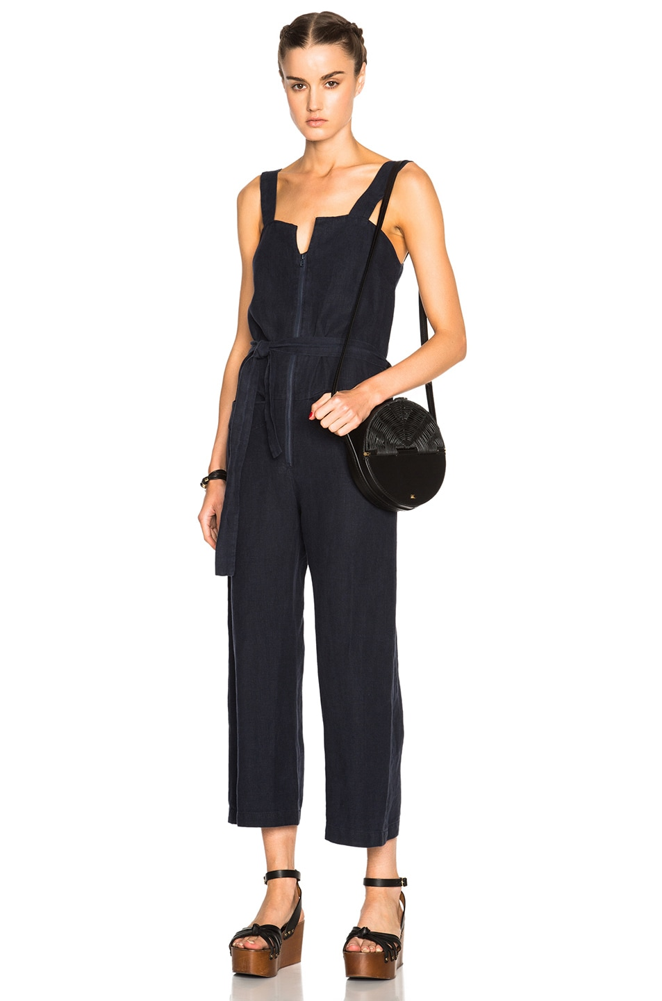 2483890a959 Image 1 of Rachel Comey Bend Jumpsuit in Navy