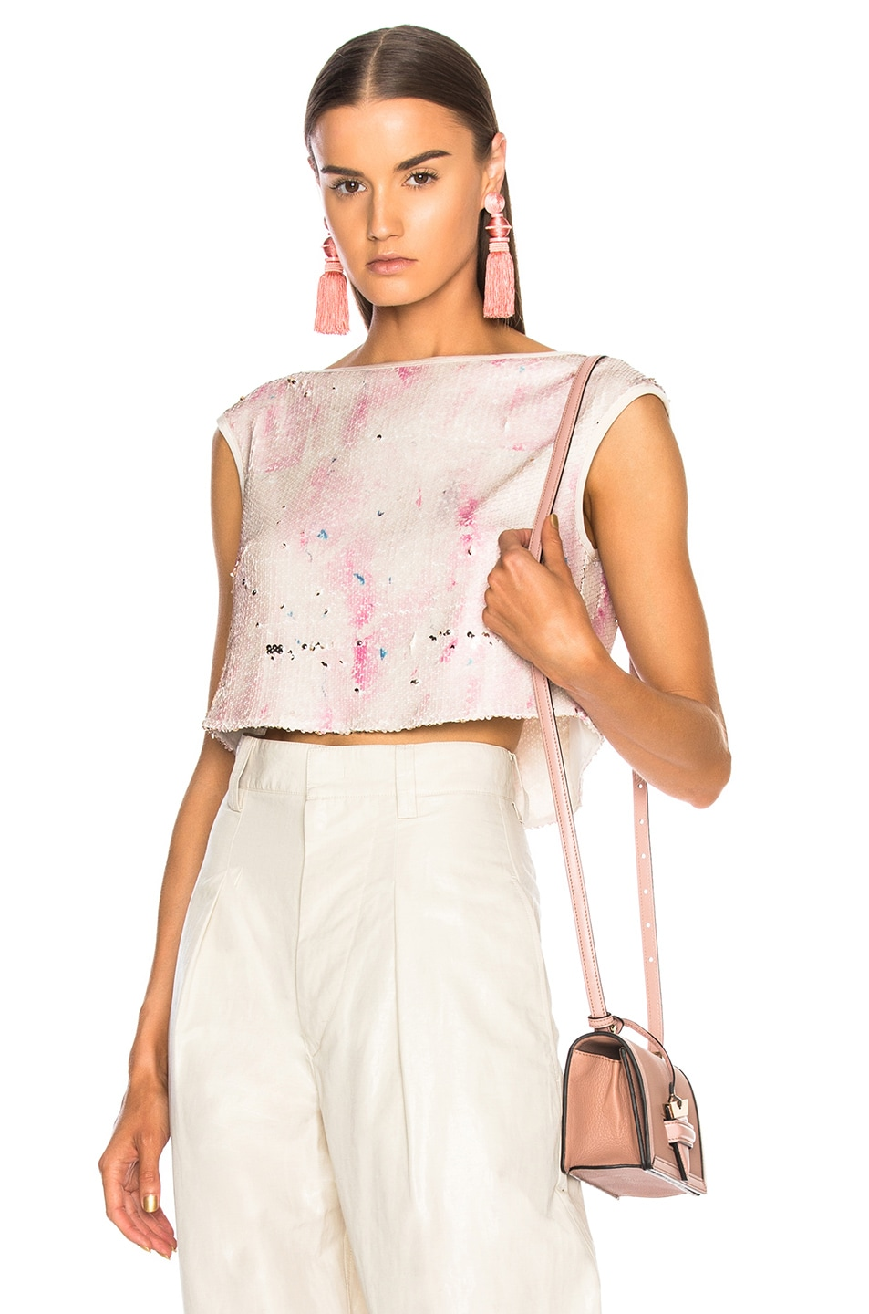 814f7e54 Image 1 of Rachel Comey Lady Top in Pink Clouds