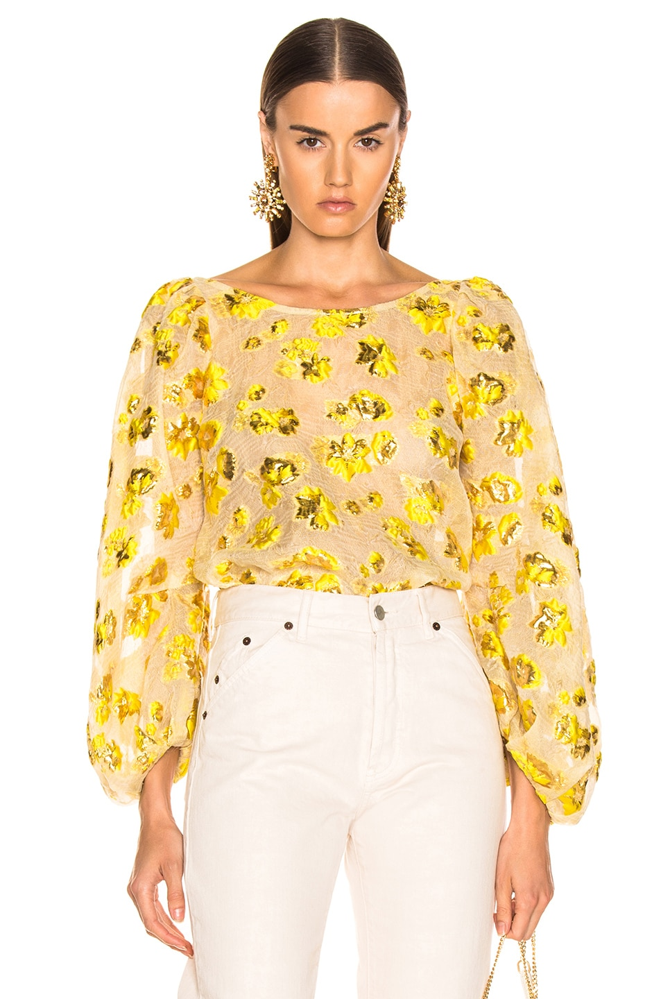 Image 1 of Rachel Comey Swoop Top in Citron