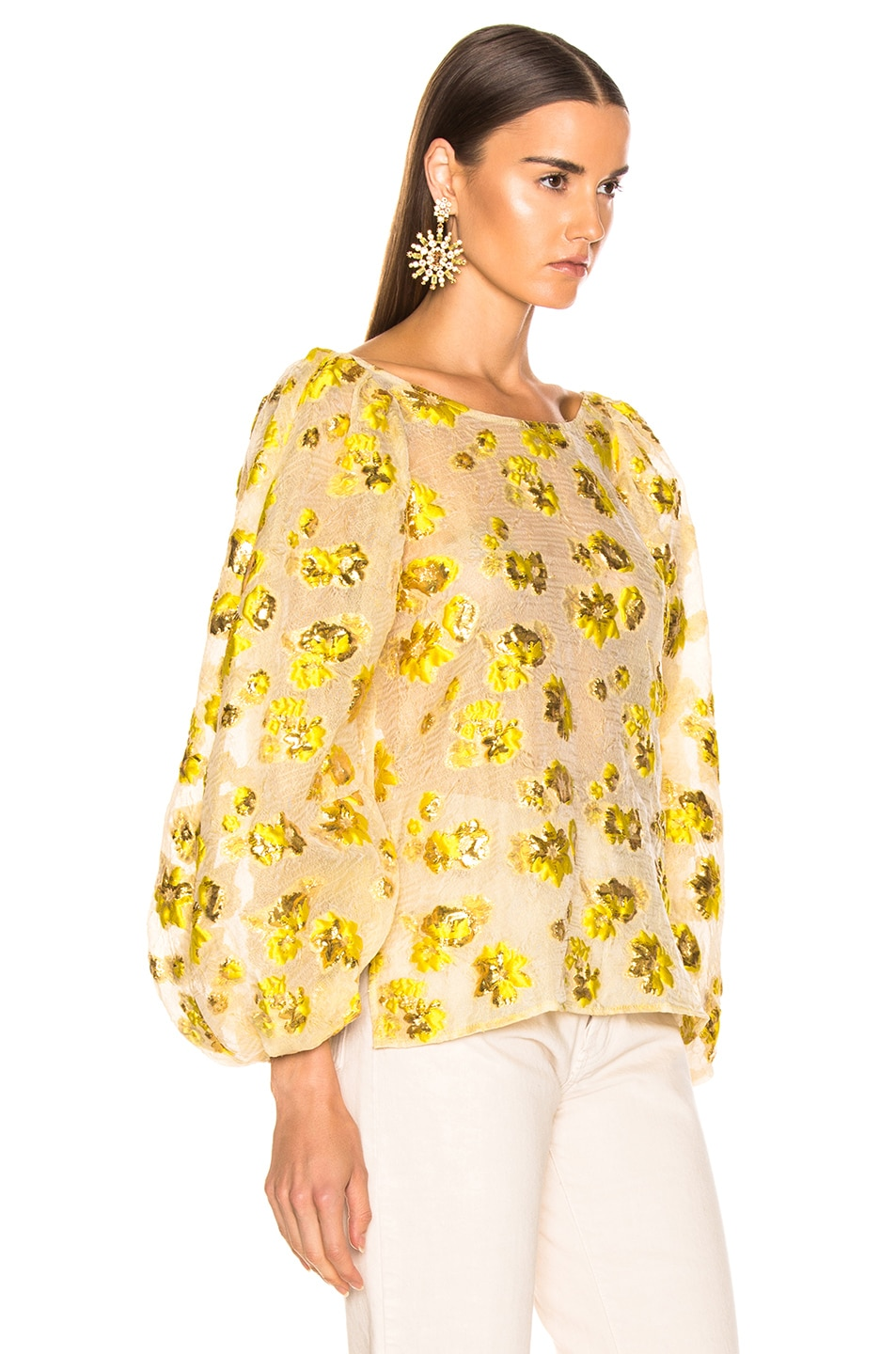 Image 2 of Rachel Comey Swoop Top in Citron