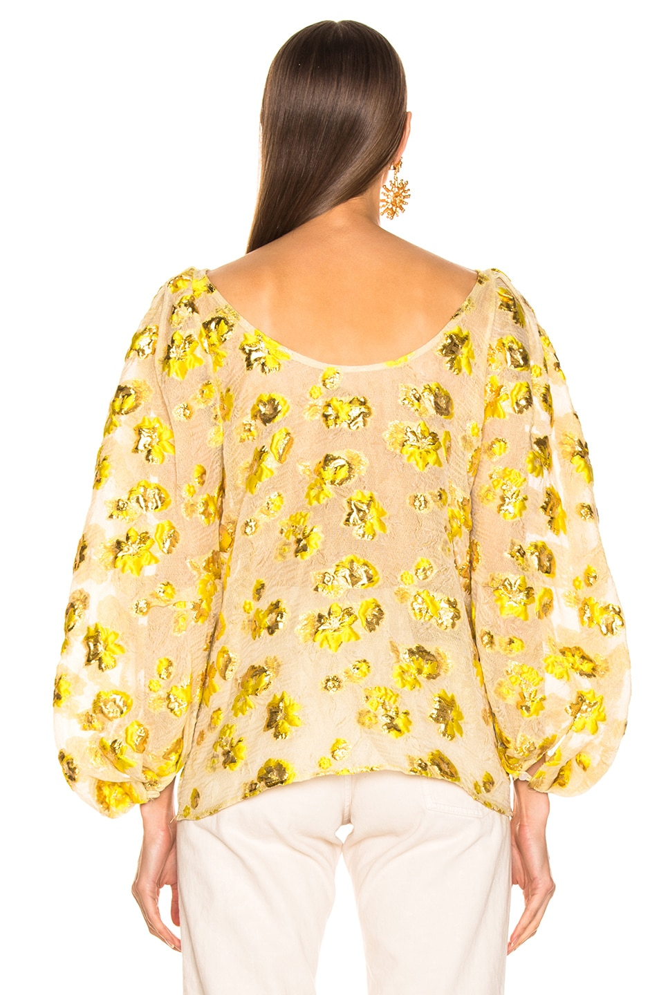 Image 3 of Rachel Comey Swoop Top in Citron