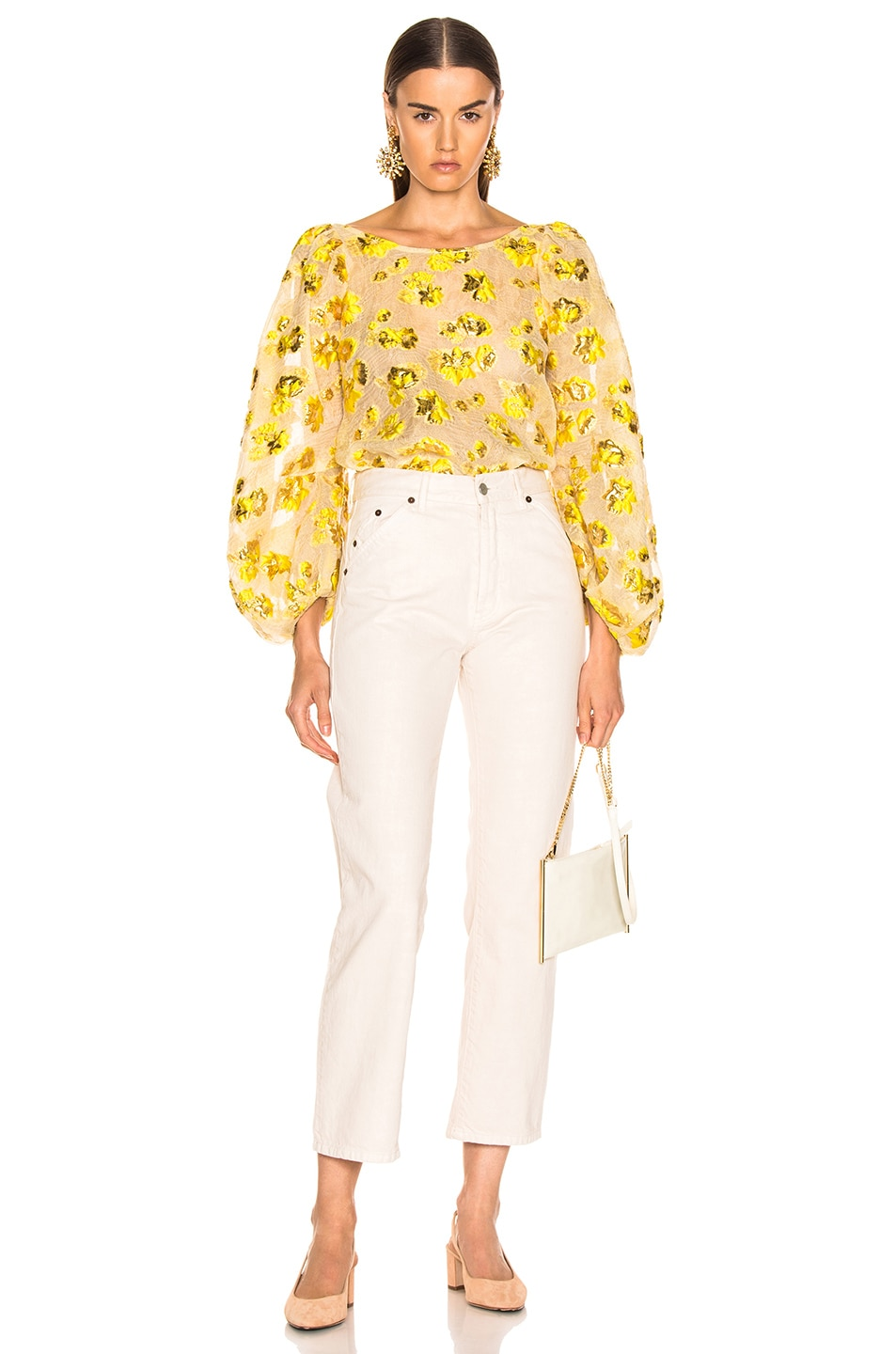 Image 4 of Rachel Comey Swoop Top in Citron