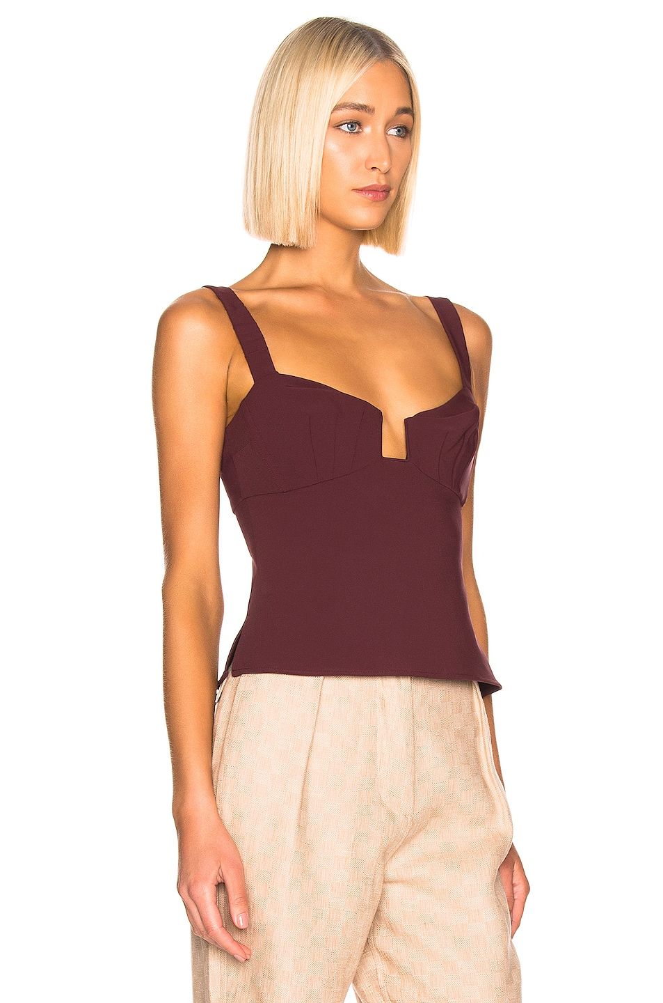 Image 2 of Rachel Comey Spike Top in Currant