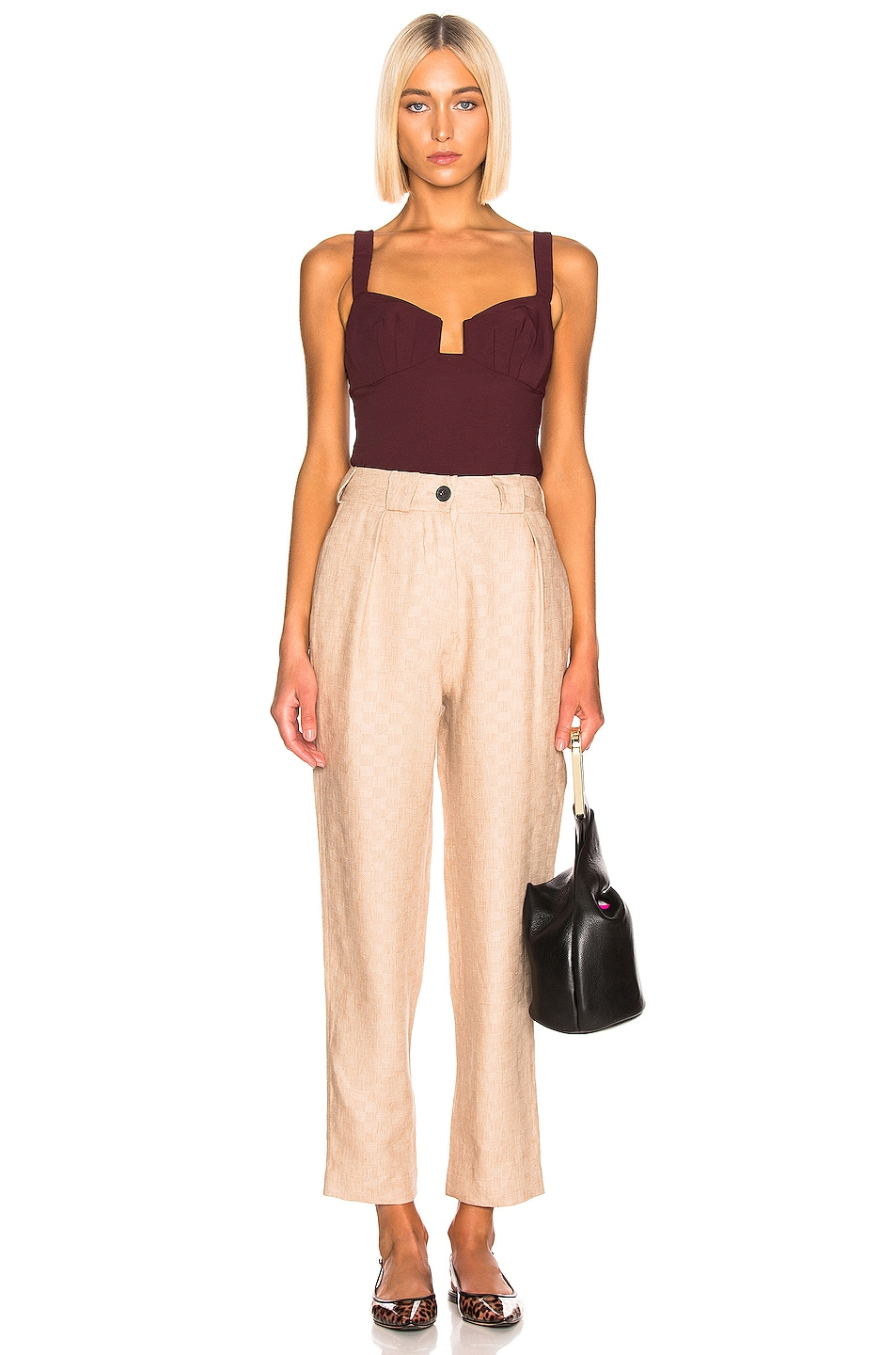 Image 4 of Rachel Comey Spike Top in Currant