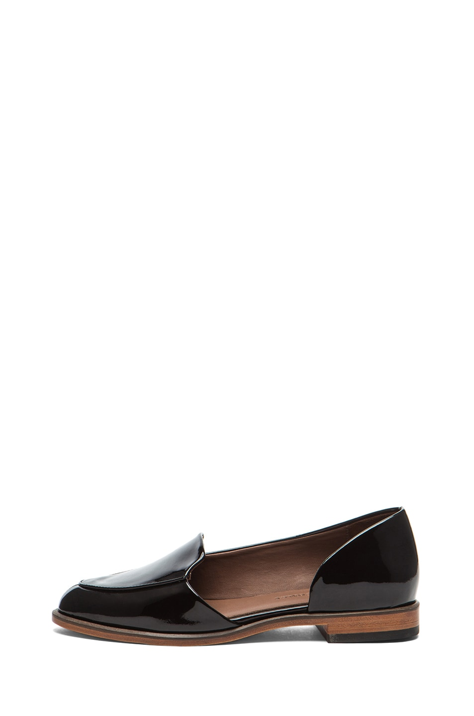 Image 1 of Rachel Comey Bolt Patent Leather Flats in Deep Plum