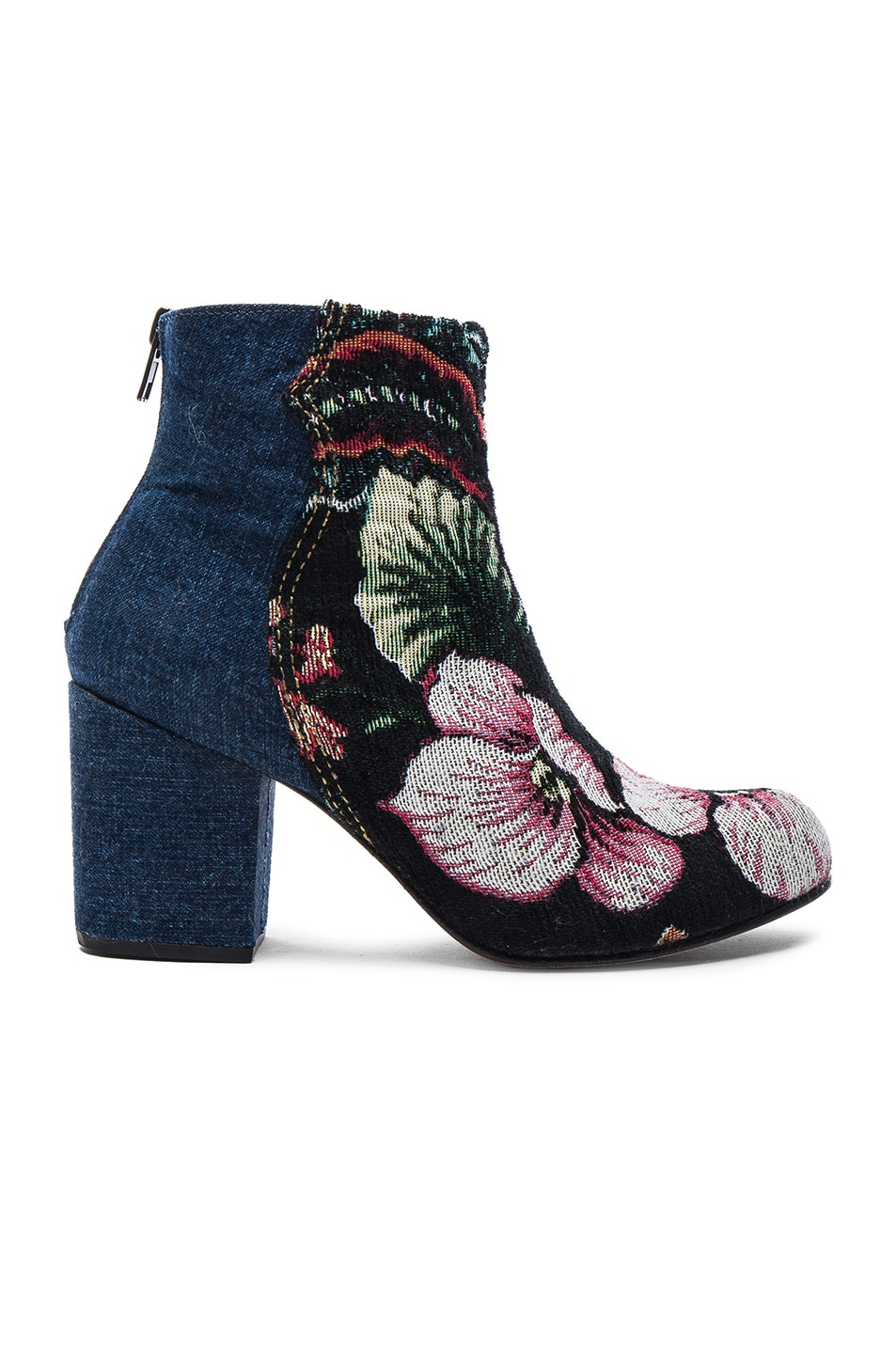 Image 1 of Rachel Comey Tilden Booties in Denim & Brocade