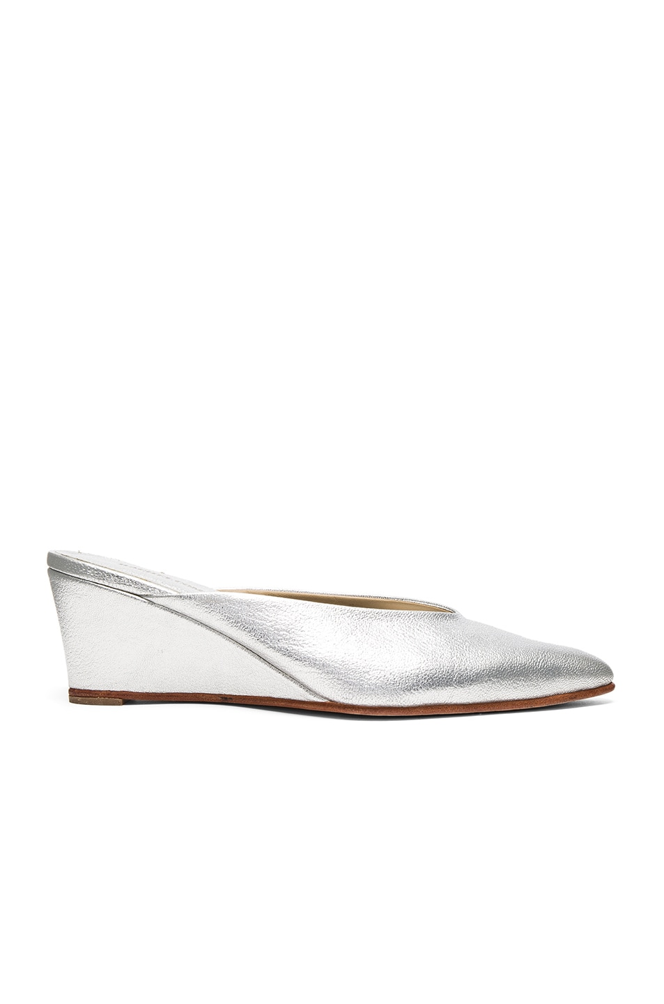 Image 1 of Rachel Comey Simone Wedge in Silver Kidskin
