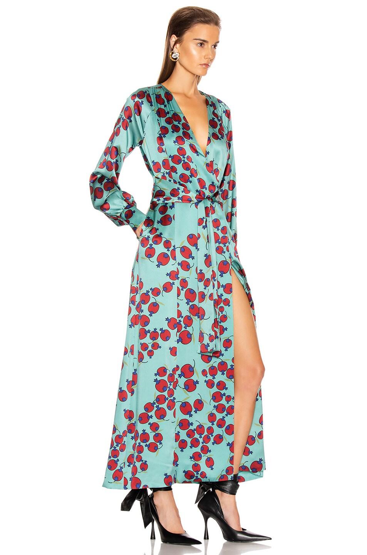 Image 2 of Rebecca De Ravenel Belted Wrap Dress in Clay Combo
