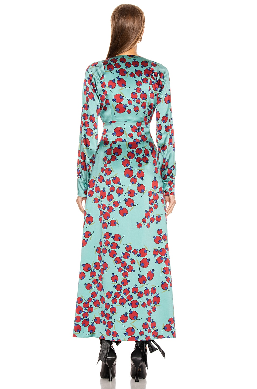Image 3 of Rebecca De Ravenel Belted Wrap Dress in Clay Combo