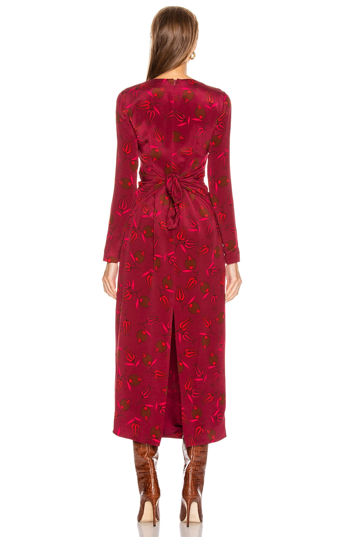 Image 3 of Rebecca De Ravenel Long Sleeve Zaza Dress in Red Combo