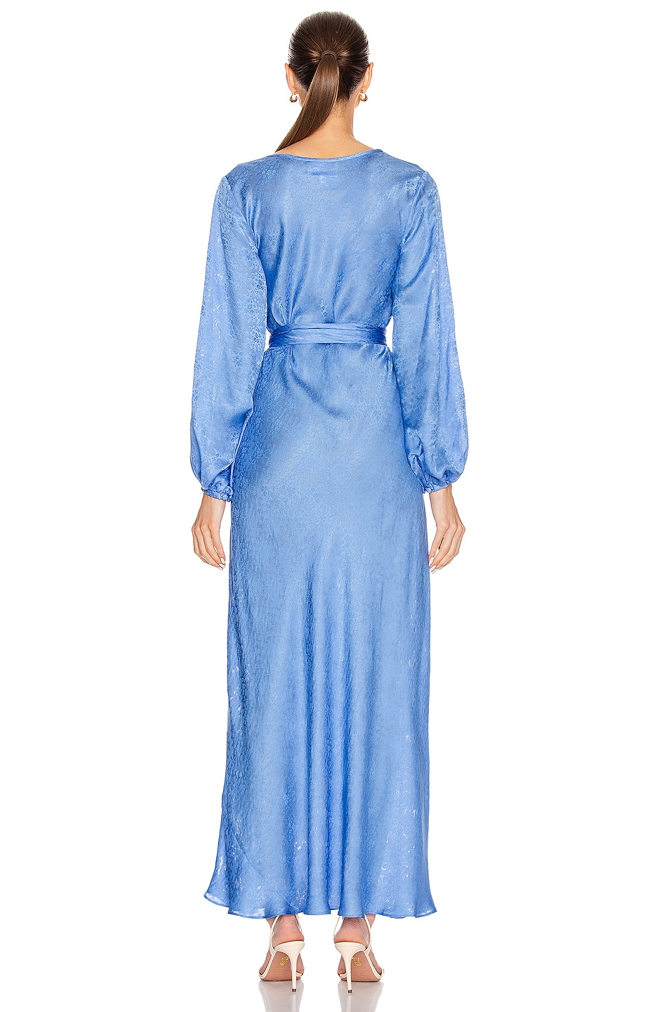 Image 3 of Rebecca De Ravenel Bias Dress in Periwinkle Blue