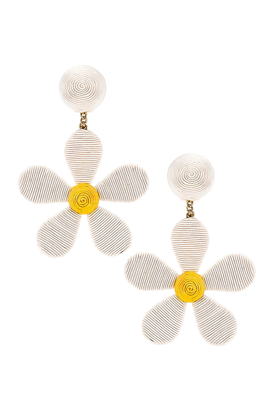 Rebecca De Ravenel Accessories REBECCA DE RAVENEL DAISY EARRINGS IN WHITE.
