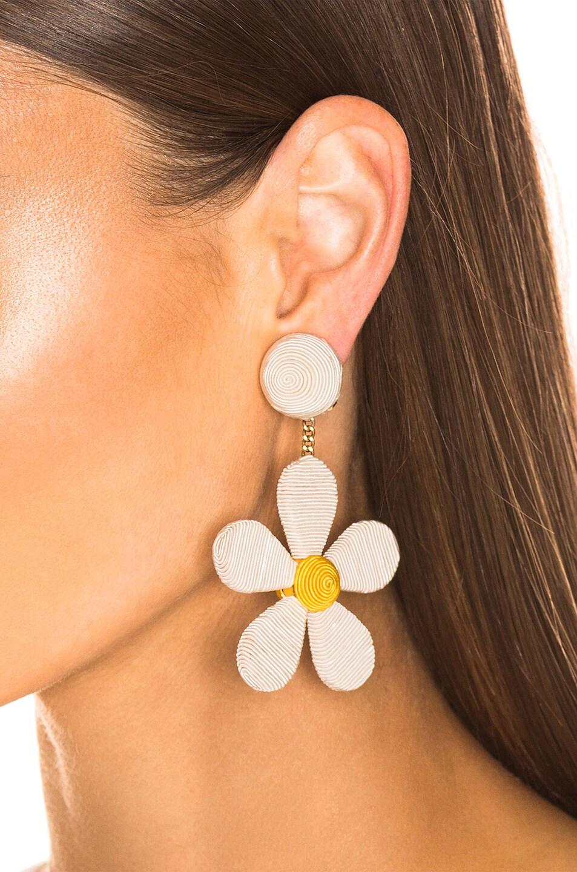 Image 2 of Rebecca De Ravenel Daisy Earrings in White