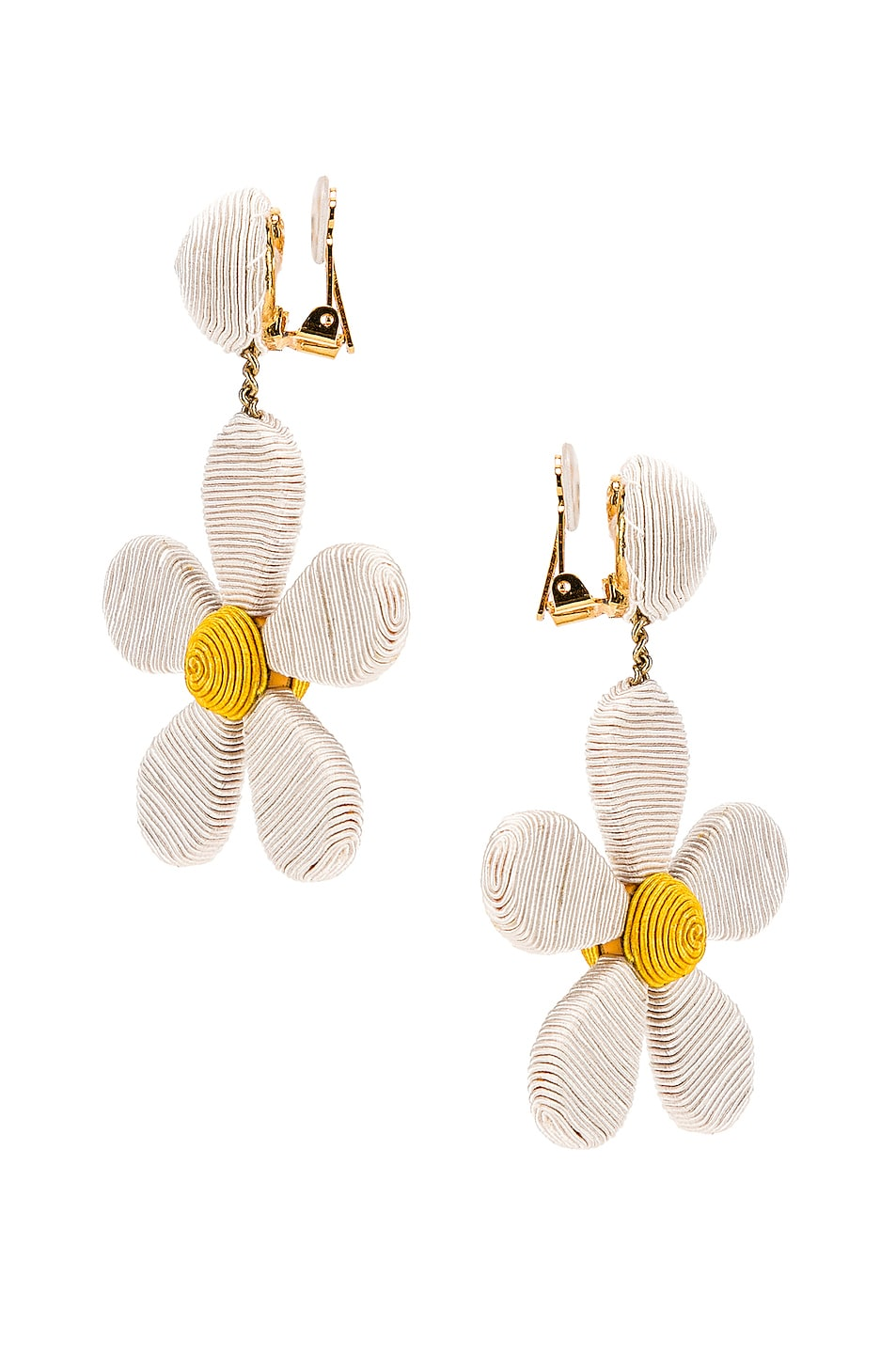 Image 3 of Rebecca De Ravenel Daisy Earrings in White