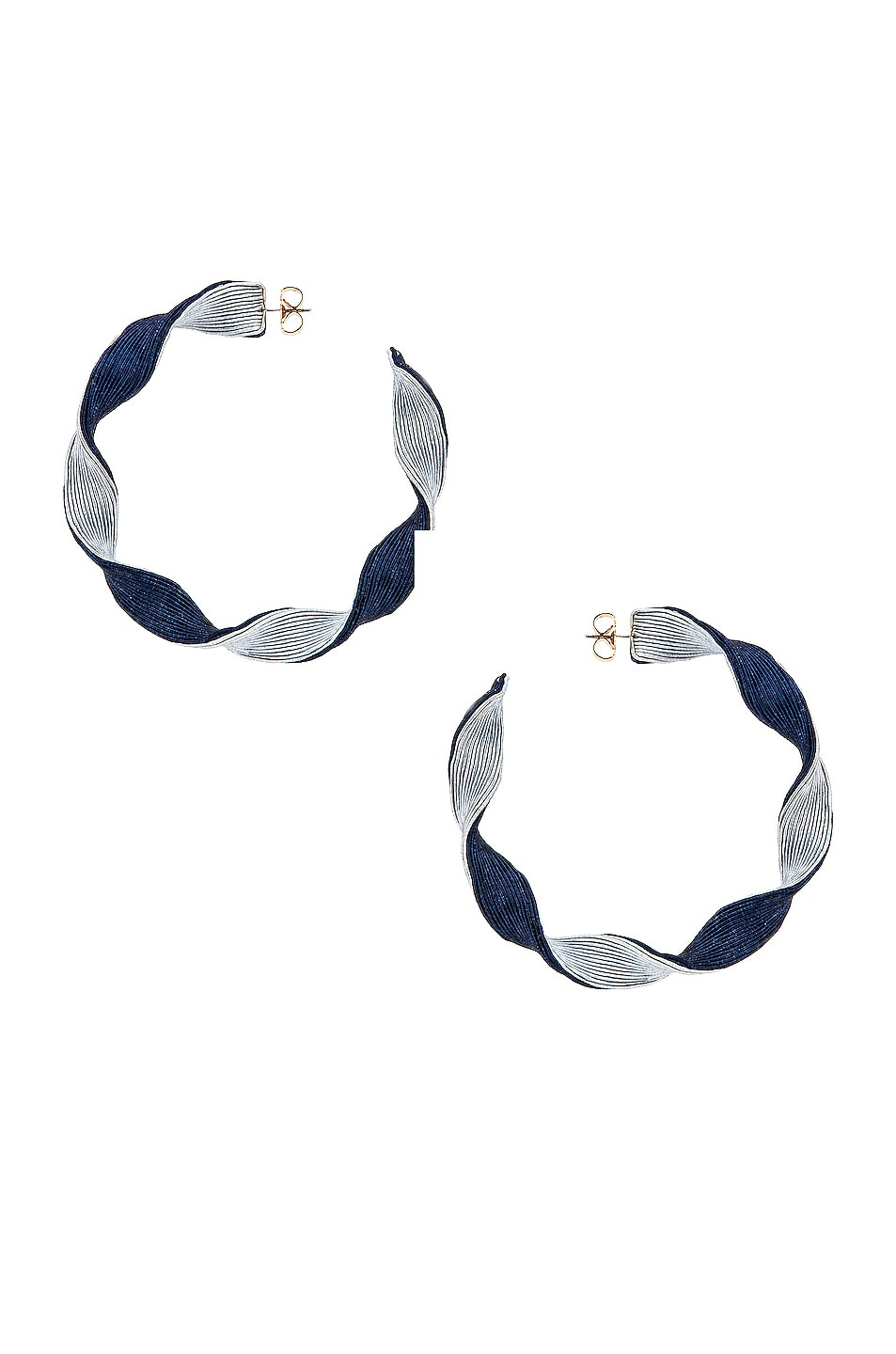 Image 1 of Rebecca De Ravenel Penelope Hoop Earrings in Blue