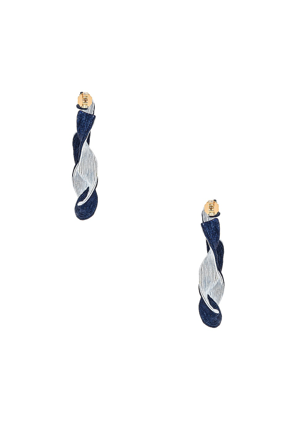 Image 4 of Rebecca De Ravenel Penelope Hoop Earrings in Blue