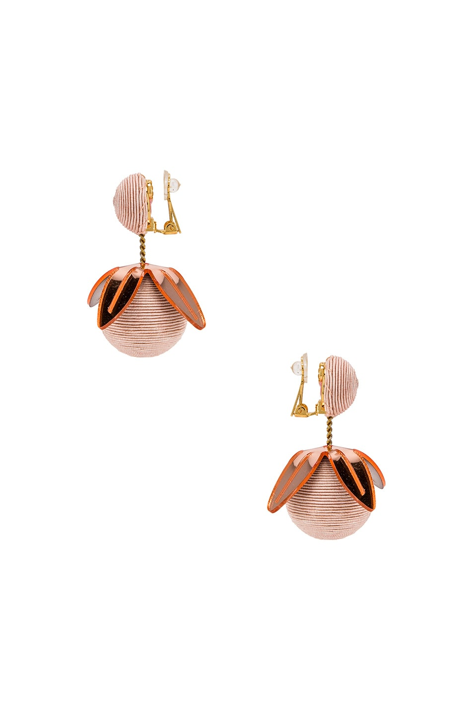 Image 3 of Rebecca De Ravenel Tulip 2 Drop Earrings in Pink