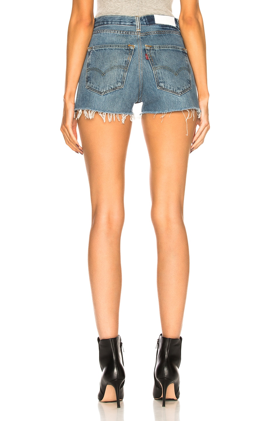 Image 3 of RE/DONE Side Zip Levi's Denim Short in Indigo